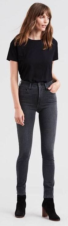 Levi's Gray High Rise Skinny Jeans