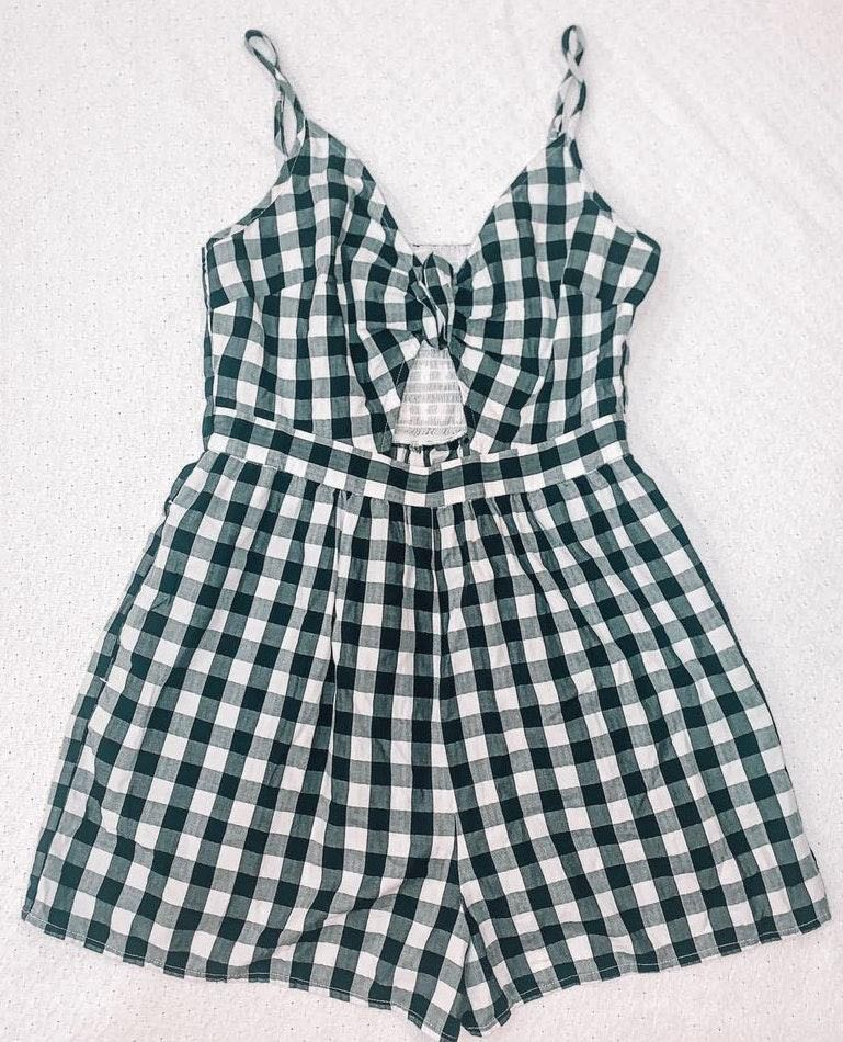 American Eagle Outfitters Gingham Romper