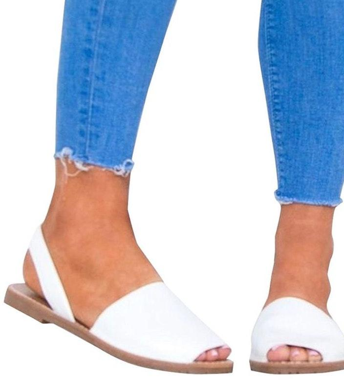 Amazon White Slip On Sandals