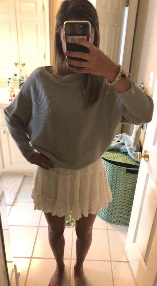 Princess Polly Cropped Blue Sweater