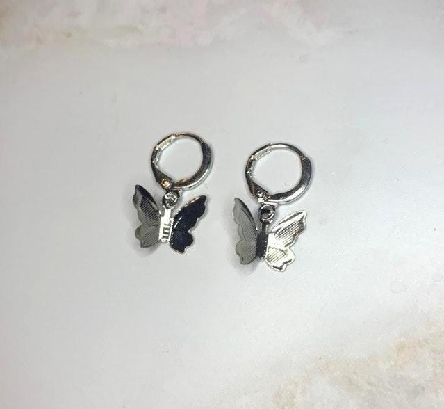 Brandy Melville Silver Butterfly Earrings