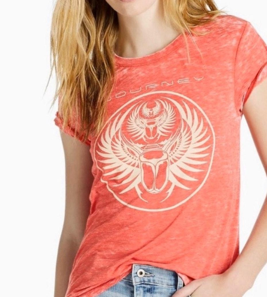Lucky Brand Journey Burnout Band Tee Size S