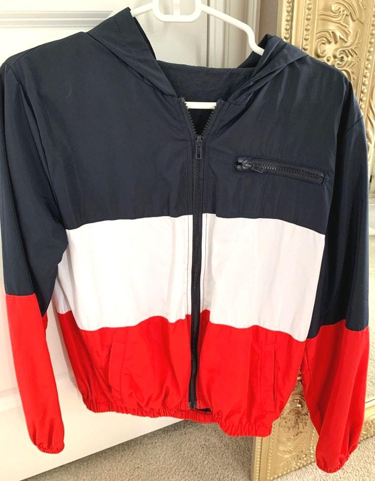 Brandy Melville Red White And Blue Windbreaker