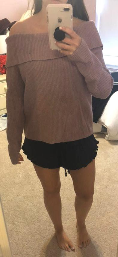 If It Were Me Off The Shoulder Sweater