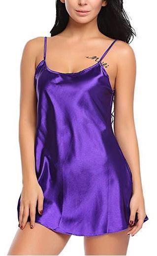 Amazon Purple Silk Slip