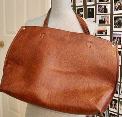 Free People Reversible Leather Tote