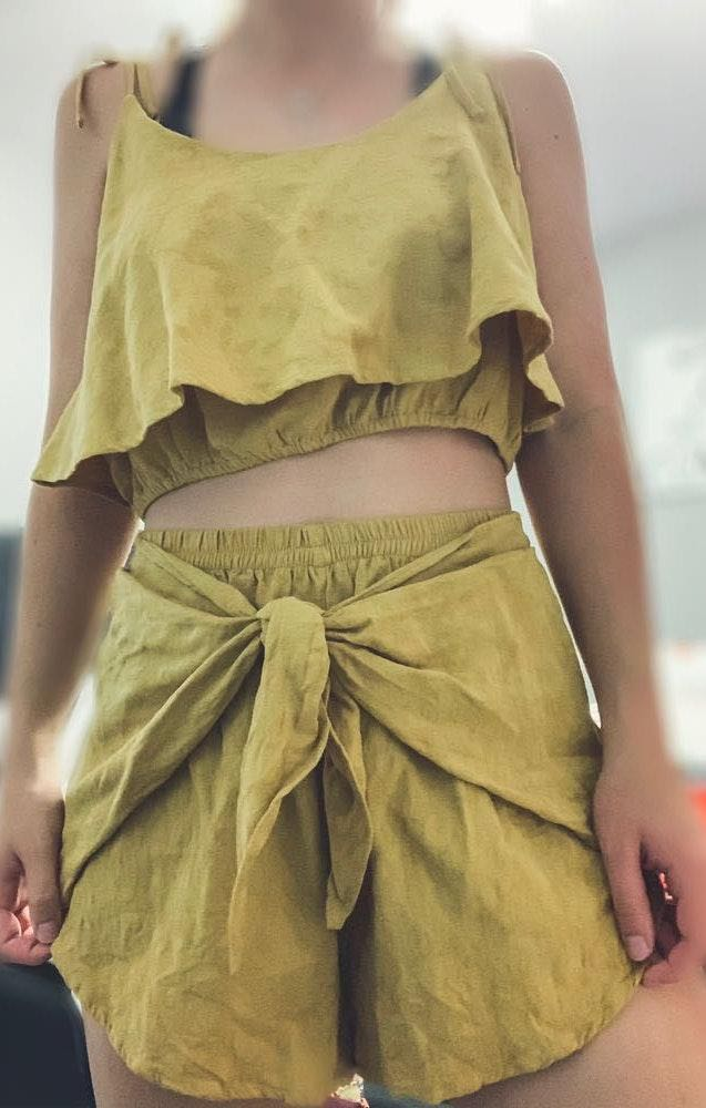 American Threads Two Piece Yellow Set