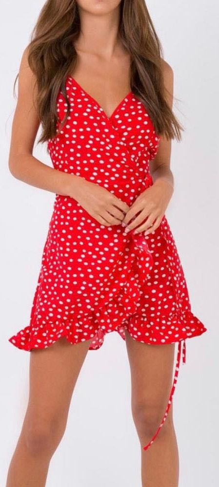 Princess Polly Polka Dot Wrap Dress