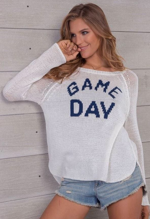 Wooden Ship Knits Game Day Sweater