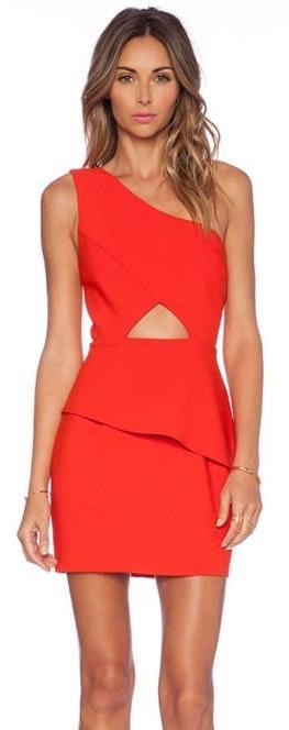 NBD One Shoulder Cutout Dress