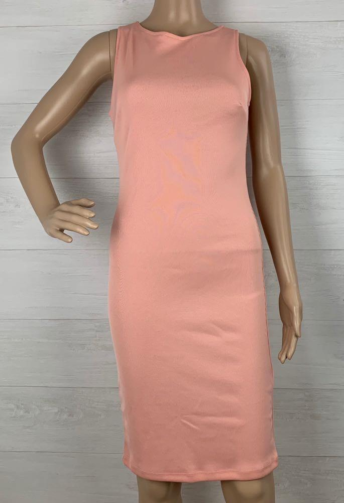 Forever 21 Ribbed Peachy Long Bodycon Dress