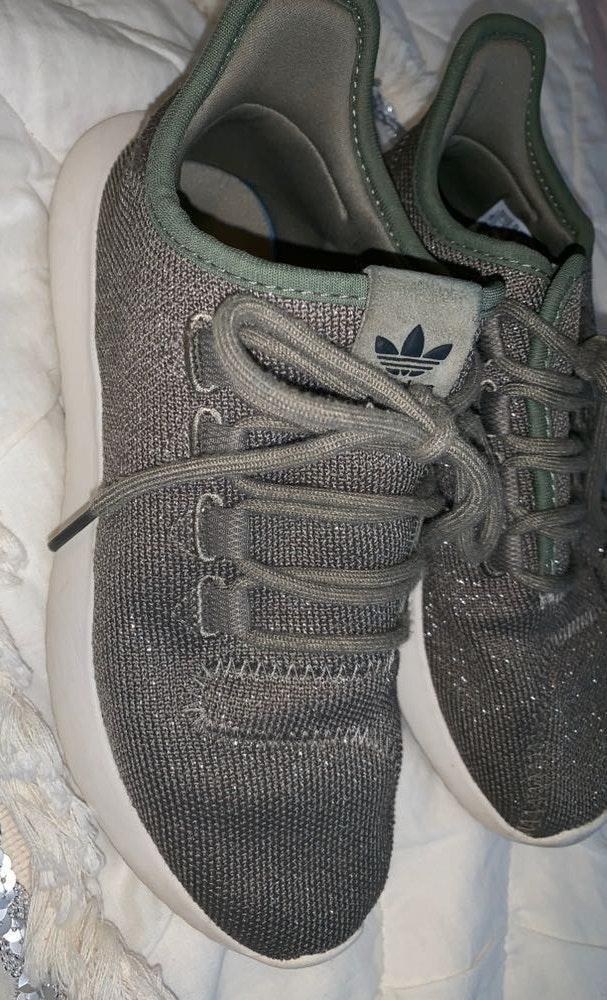 Adidas Original Tubular Shadow Green Khaki Glitter