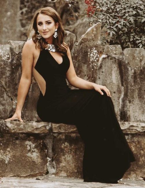Madison James Black Prom Dress