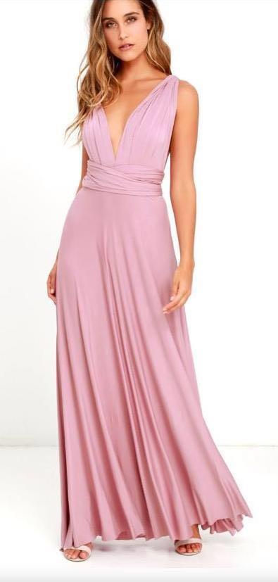Lulus Tricks of the Trade Mauve Maxi Dress