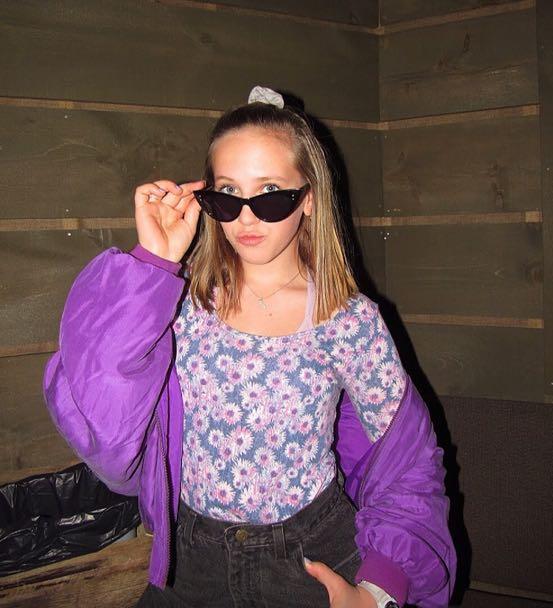 Carol Horn Vintage Purple Bomber Jacket