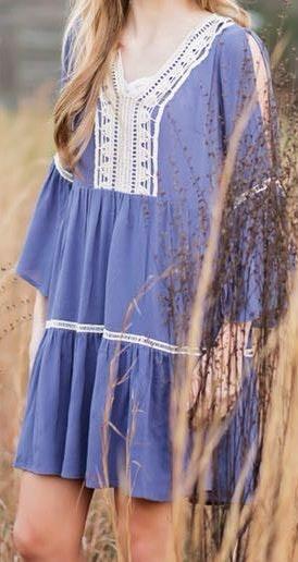 Entro Dark Blue/Grey Dress