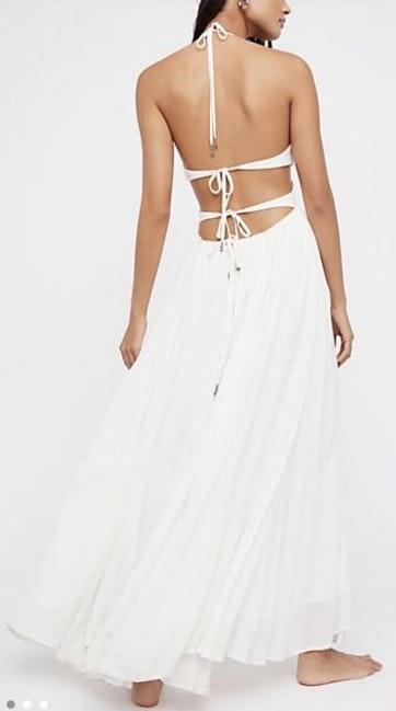 Free People White Cut Out Formal Dress