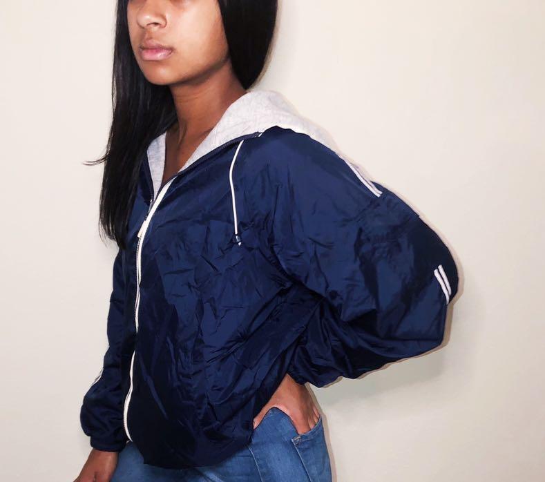 Reversible Windbreaker Puffy Jacket