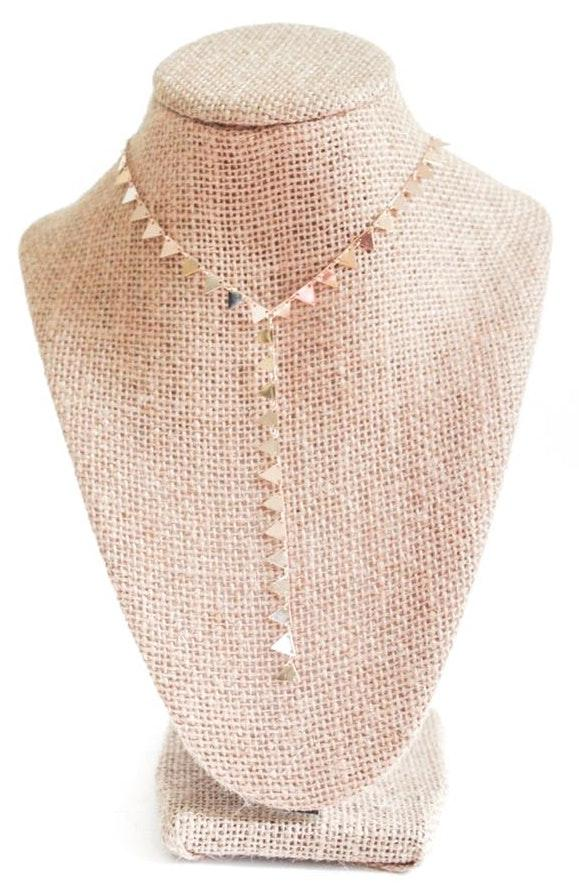 Beaded by Meg Triangle Y Necklace