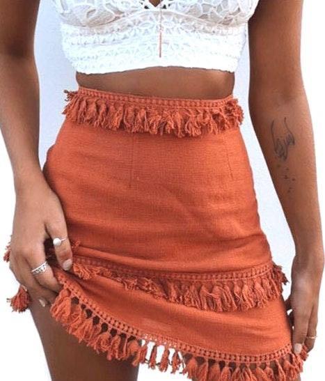 BLACK- Skirt