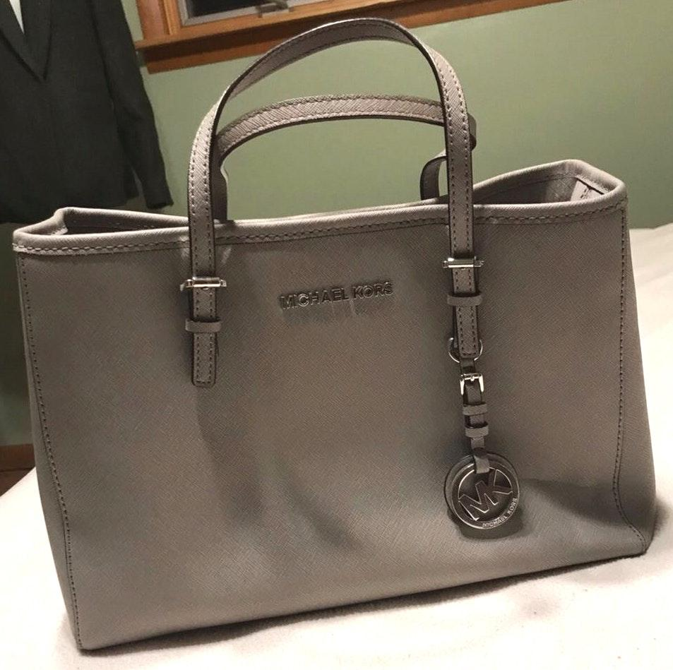 Michael Kors Used Authentic  Grey Handbag