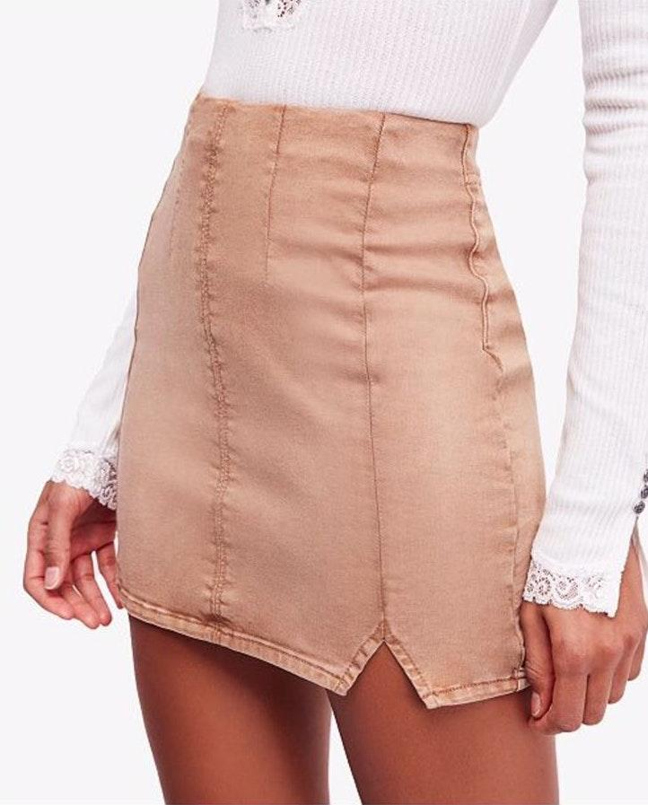 Free People Gene Fatale Pull-on Medium Skirt
