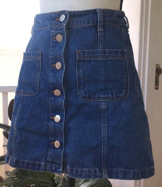 H&M Denim Button Up Skirt