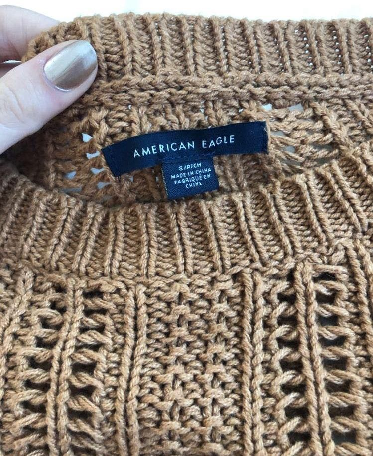 American Eagle Outfitters Rust Colored Knit Sweater