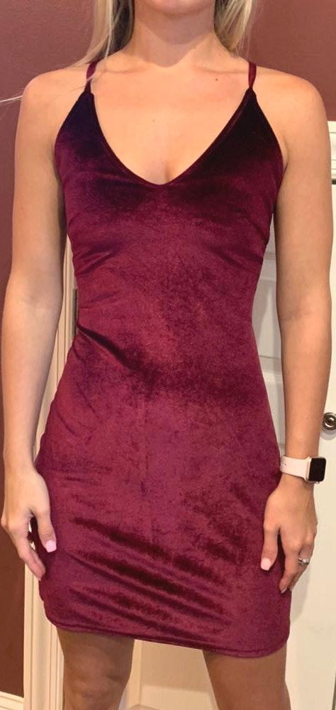 Amazon Velvet body con dress