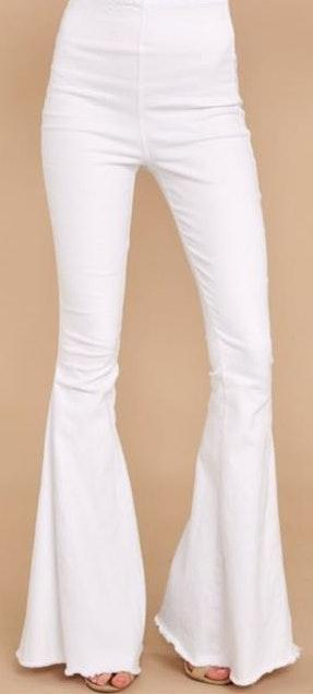 Red Dress Boutique White Flare Jeans