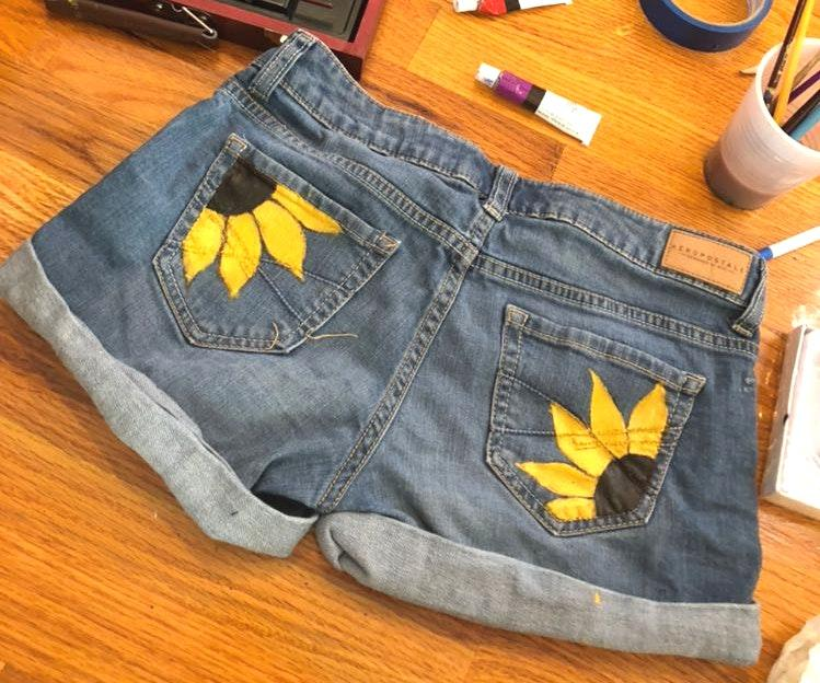 Handmade Painted Pocket Shorts