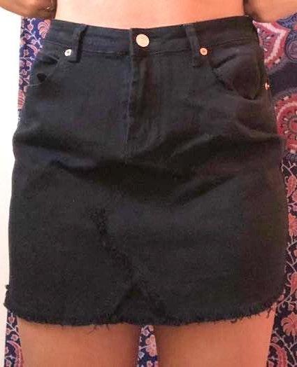 Zaful Black Demin Skirt