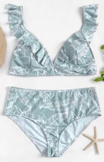 SheIn Palm Print Bikini