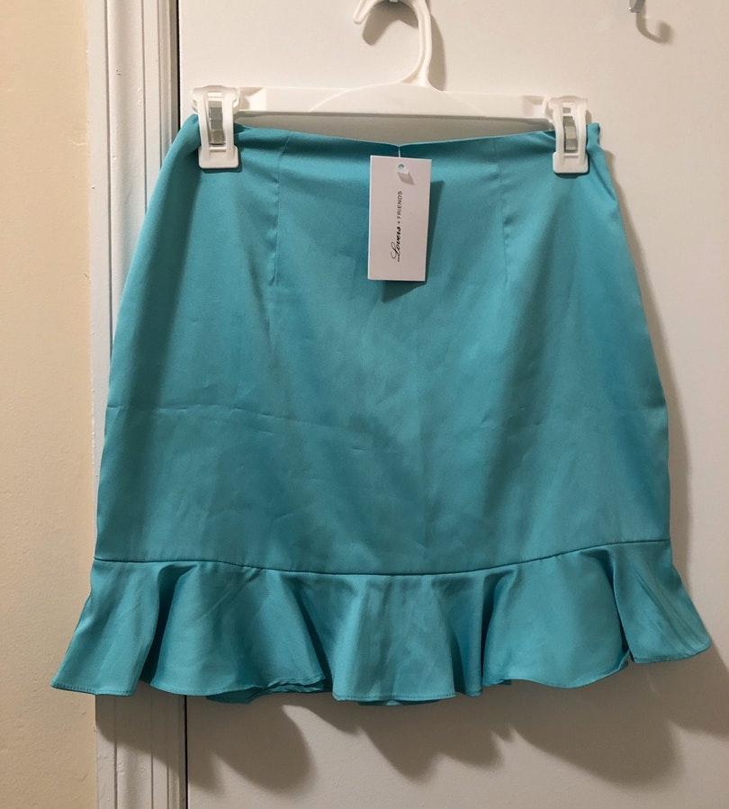 Lovers + Friends Ruffle Mini Skirt