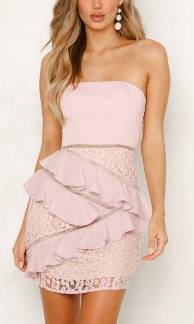 Hello Molly Short Blush Dress