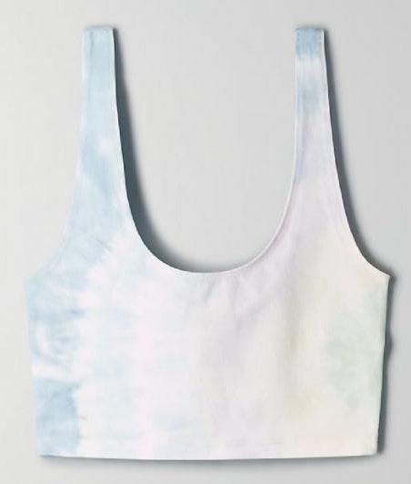 Aritzia Tie Dye Cropped Tank Top