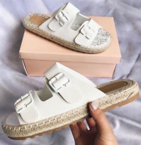 Brand New! White Espadrille Sandal