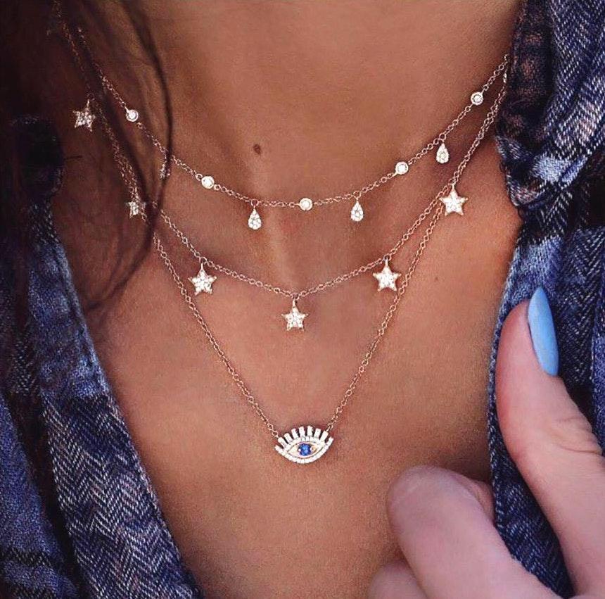 Bohemian Multi Layered Necklace