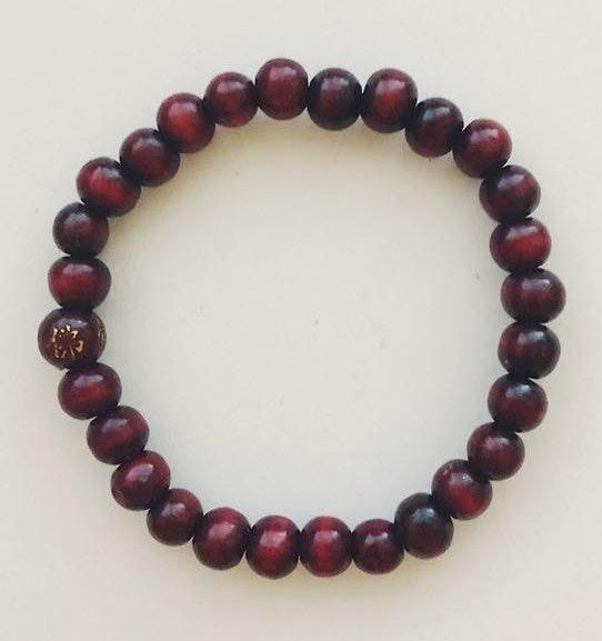 Aritzia Maroon Beaded Bracelet
