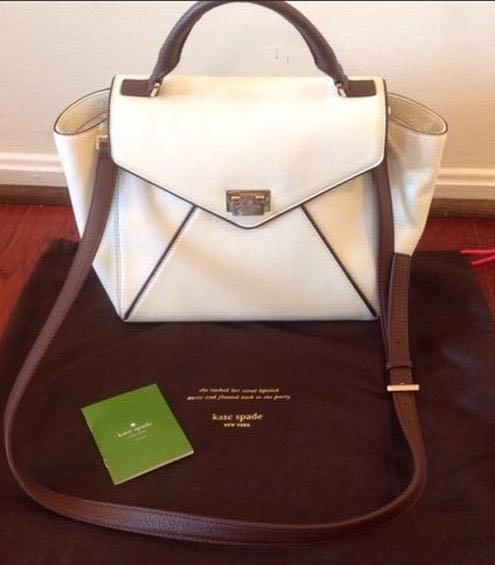Kate Spade NY Laurel Wesley Leather Satchel Bag Never Used