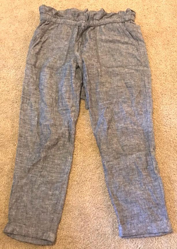 New York & Co. Grey Linen Pants