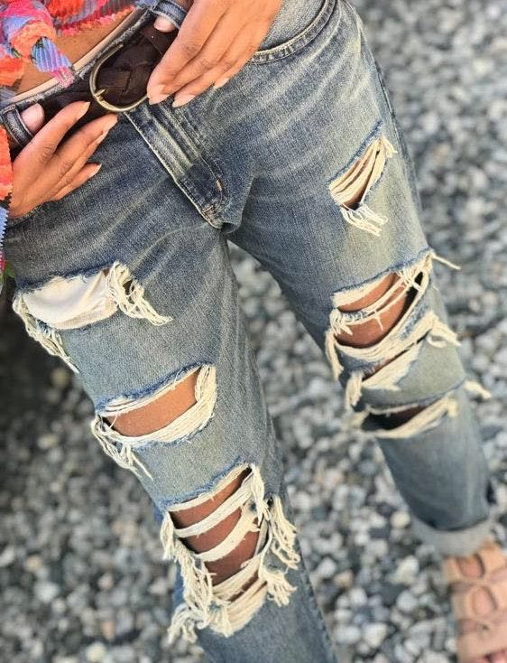 Ralph Lauren Boyfriend Ripped Jeans