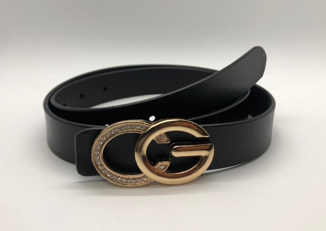 Black 100% Leather CG Belt