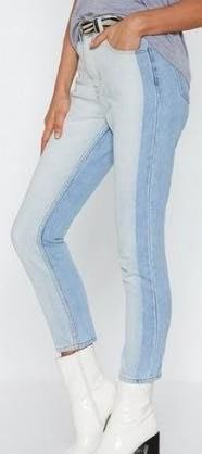 Nasty Gal Two Toned Jeans