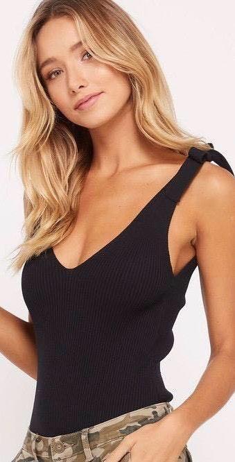 Wishlist Black Tie Shoulder Bodysuit