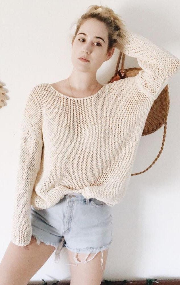ZARA Chunky Knit Oversized Sweater