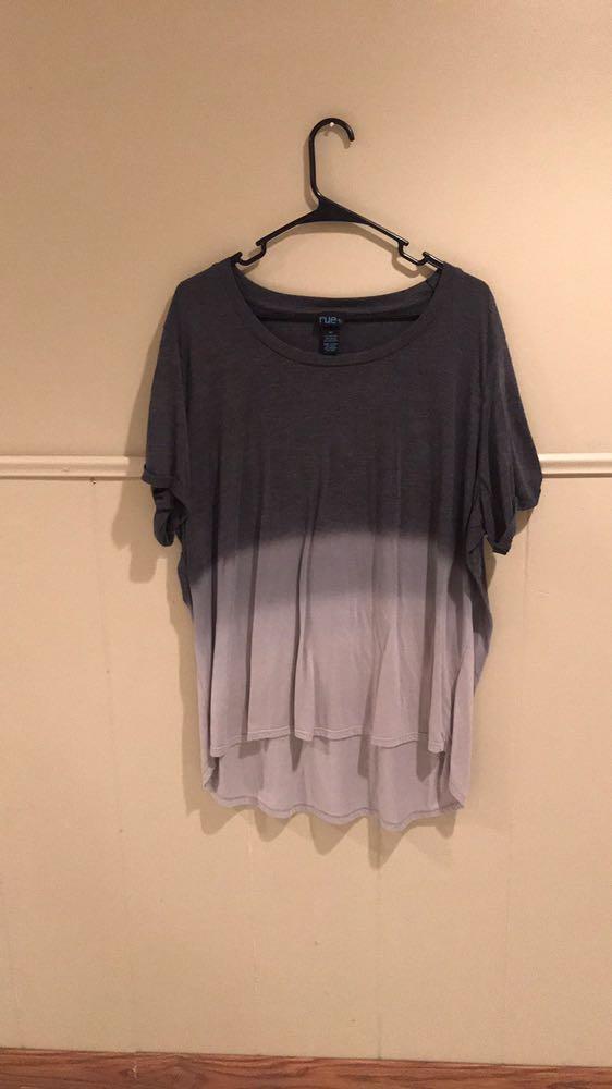 Rue 21 Grey Ombré Flowy Shirt