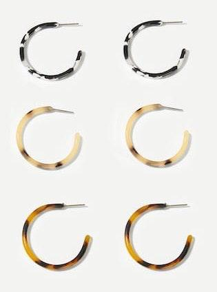 SheIn Patterned Hoop Earrings