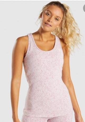 Gymshark Pink Fleur Tank