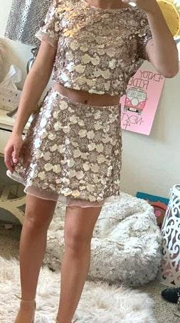 L'ATISTE Two Piece Sequin Dress
